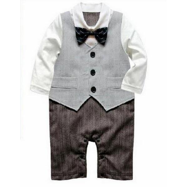 fb7bbd8ec54fd ベビー子供服0歳-2歳男の子用洋服長袖 ベストタキシード フォーマル ...