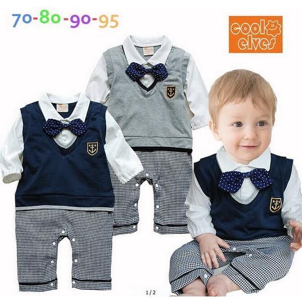 404ed18b37c4c ベビー子供服0歳-2歳男の子用洋服長袖 タキシード フォーマルスーツ服 ...