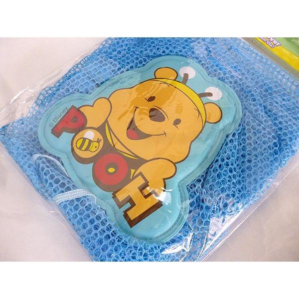 くまのプーさん顔 扇風機カバー ブルー ディズニーキャラクター FC8-BB