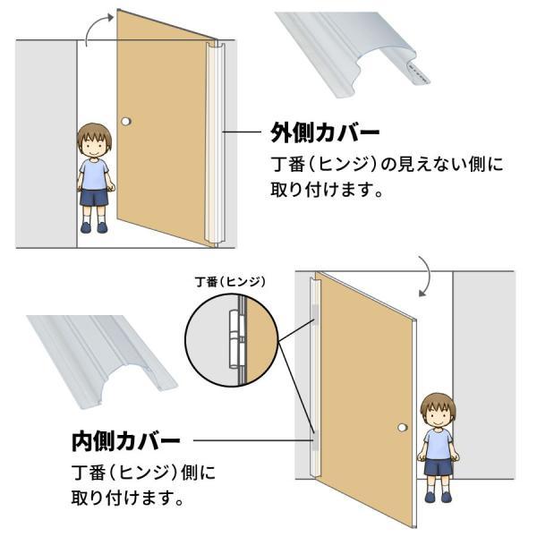 フィンガーアラート1500mm 内側・外側カバーセット 日本総代理店 送料無料 指はさみ防止 指詰め防止 ドア挟み防止 ストッパー ストップ セーフティ キッズ|babywest|08