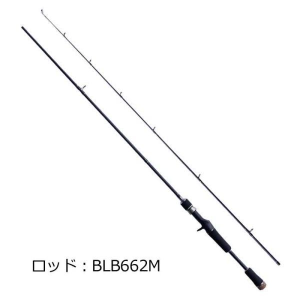 【ロッド&リールセット】】【ライン付き】 バックラッシュオリジナル ベイトモデル ストライド100MG-R+BLB662M