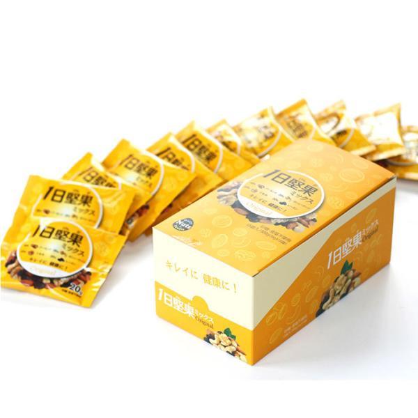 ナッツ 小分け 無塩  通販 アーモンド カシューナッツ くるみ レーズン 1日堅果 ナッツ&ドライフルーツ ミックスオリジナル 20g 15袋 ミックスオリジナル