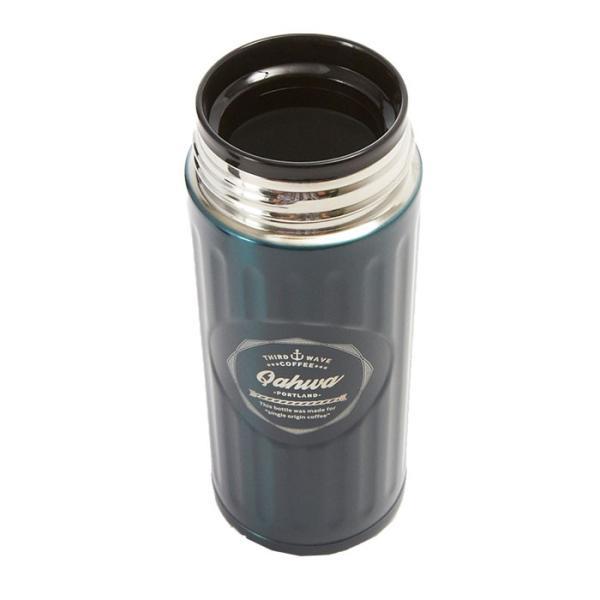 ステンレスボトル おしゃれ 420ml カフア QAHWA マグボトル テフロン加工 COFFEE こぼれない 定番 エンボスデザイン おしゃれ 保冷 保温 直飲み 飲み口|backyard-1|06