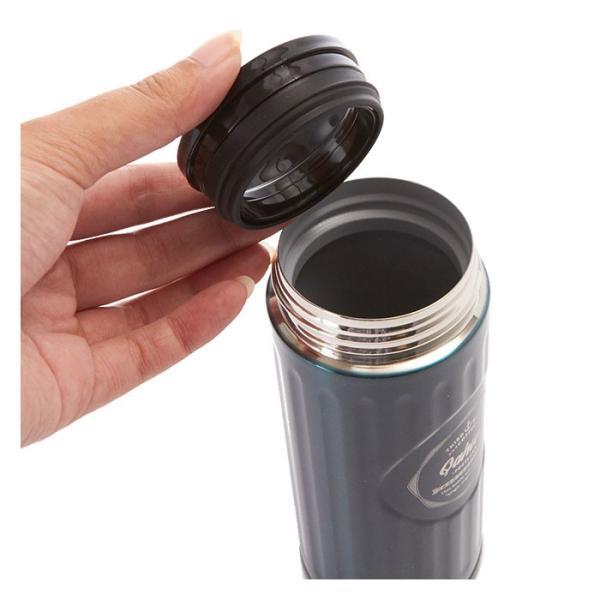 ステンレスボトル おしゃれ 420ml カフア QAHWA マグボトル テフロン加工 COFFEE こぼれない 定番 エンボスデザイン おしゃれ 保冷 保温 直飲み 飲み口|backyard-1|08