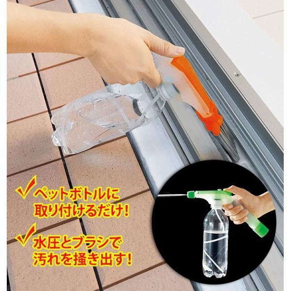コジット ジェット水圧ブラシ ジェットブラシ 水圧 ブラシ ペットボトルが掃除道具に すき間 すきま サッシ 窓 溝 レール 掃除 大掃除