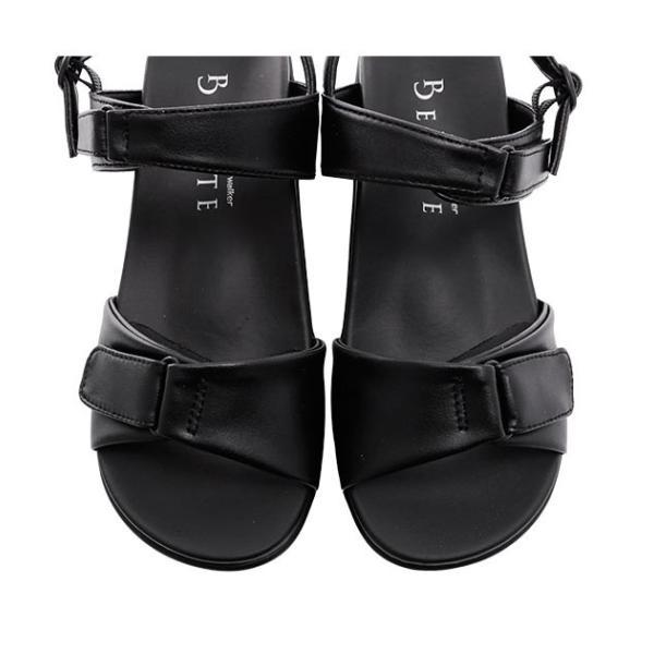 ピュアウォーカー サンダル 通販 レディース 履きやすい オフィス ヒール 厚底 歩きやすい 黒 オフィスサンダル おしゃれ ヒールサンダル つまづきにくい