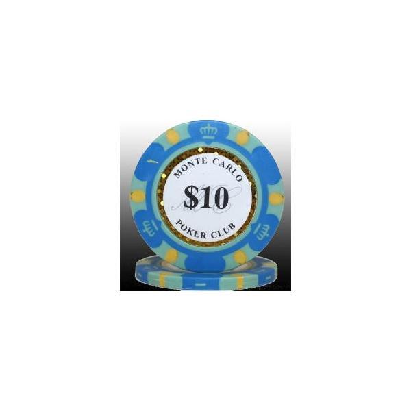 カジノ ポーカーチップ モンテカルロ ポーカーチップ(10)青 25枚セット