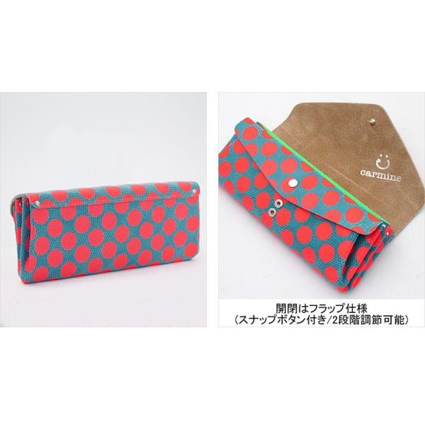 カーマイン 財布 carmine 長財布 水玉 ドット ネオンカラー 豚革 レザー レディース dlw bag-danjo 03