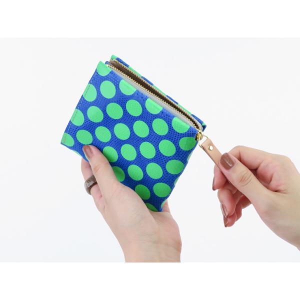 カーマイン 財布 carmine 折り財布 コンパクト ミニウォレット レザー ネオンドット ワンウォレット One Wallet Neon Dot onedt-n|bag-danjo|02