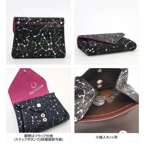 カーマイン carmine 財布 ミニ財布 星座 コンパクト レディース メタリック 個性 スターリー mini wallet starry smw bag-danjo 03
