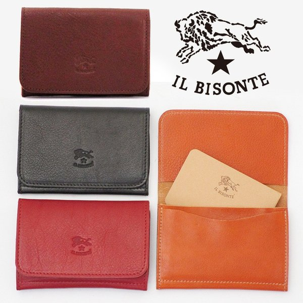 イルビゾンテ IL BISONTE / 名刺入れ カードケース レザー c0470|bag-danjo