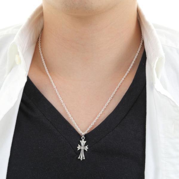 シルバーネックレス シルバー925 メンズ クロス 十字架  925 シルバーチェーン付|bag-mart|05