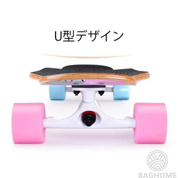 ロングスケートボード 光ウィール ロングボード スケボー 全30色 コンプリート ロンスケ カラーグリップテープ 収納ケース付き ストリート パーク|baghome|12