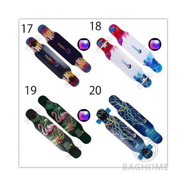ロングスケートボード 光ウィール ロングボード スケボー 全30色 コンプリート ロンスケ カラーグリップテープ 収納ケース付き ストリート パーク|baghome|06