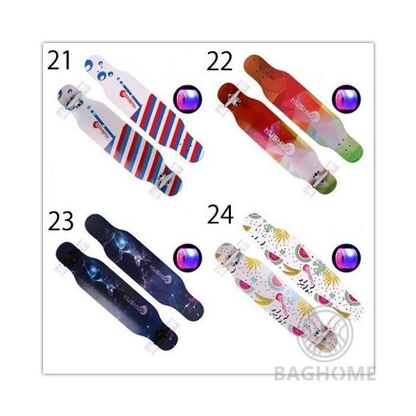 ロングスケートボード 光ウィール ロングボード スケボー 全30色 コンプリート ロンスケ カラーグリップテープ 収納ケース付き ストリート パーク|baghome|07