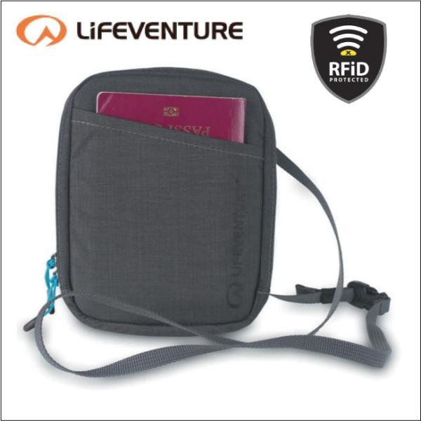 ライフベンチャー L68780-RFiDプロテクト ドキュメントネックポーチ グレー LIFEVENTURE セキュリティポケット カードケース パスポートケース