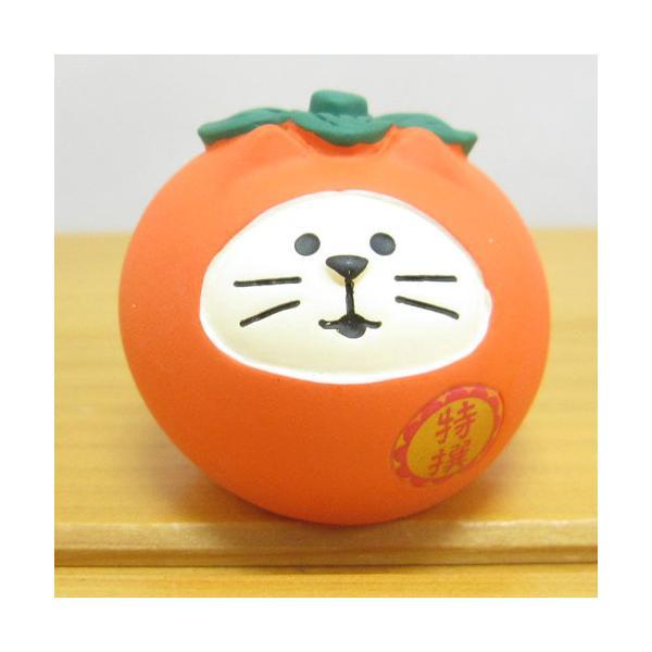 デコレ コンコンブル いもくりこんこん みのりの秋 フルーツ猫だるま 柿  DECOLE concombre 秋雑貨 雑貨 オブジェ 置物 インテリア雑貨 コレクション