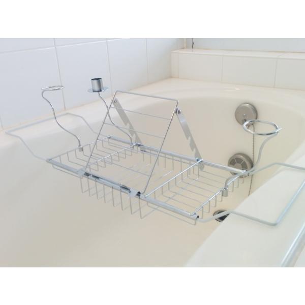 バスタブトレー バスタブラック バスブックスタンド テーブル スチール製|bagus-co|02