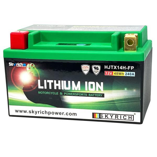 SKYRICHリチウムイオンバッテリー 互換 ユアサYTX14-BS FTX14-BS GTX14-BS RVF ZX-12R XJR 即使用可能|baikupatuhakase