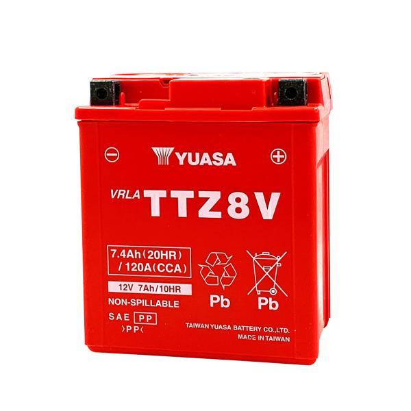 台湾ユアサ YUASA TTZ8V バイクバッテリー充電済 【互換 GTZ8V YTZ8V YTX7L-BS】 即使用可能 PCX リード125 YZF-R25 YZF-R3A MT250|baikupatuhakase|02