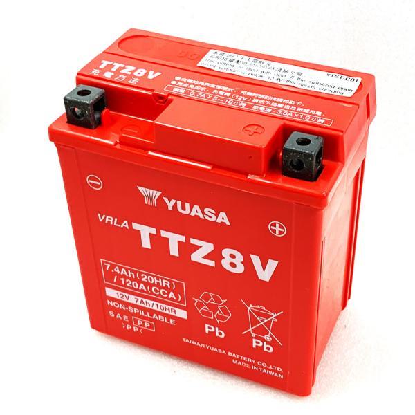 台湾ユアサ YUASA TTZ8V バイクバッテリー充電済 【互換 GTZ8V YTZ8V YTX7L-BS】 即使用可能 PCX リード125 YZF-R25 YZF-R3A MT250|baikupatuhakase|03