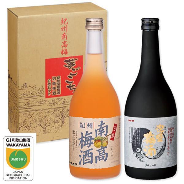 梅酒 お中元 夢ごこち 南高梅酒720ml と 泡盛梅酒720ml のセット ギフト 内祝い 南高梅 琉球泡盛