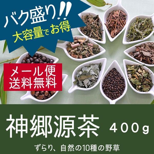 神郷源茶☆野草を10種調合した深みのある健康茶 バク盛り 400g【メール便送料無料・代引き不可】|bakuchanhonpo