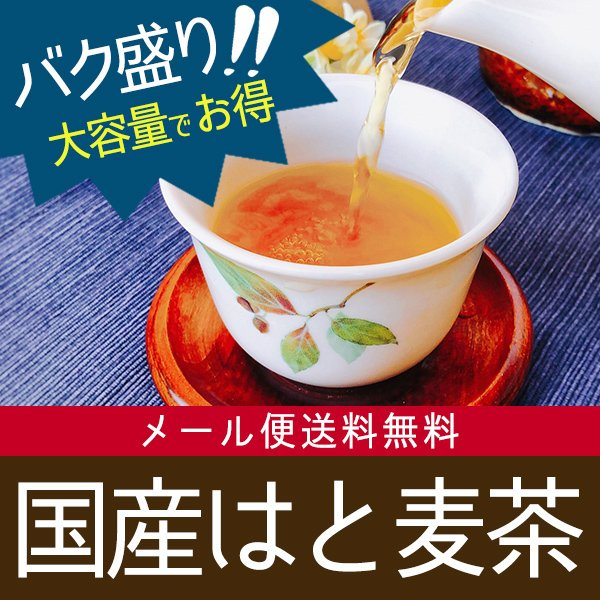 健康茶 国産はと麦茶 8g×45p+1p バク盛り(メール便送料無料・代引き不可)