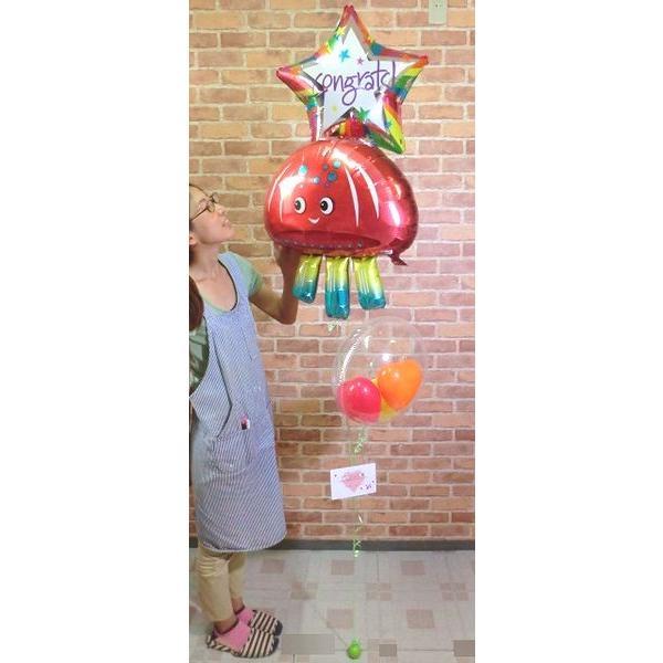 ジェリーフィッシュバルーン クラゲ 水母 開店祝い 結婚式 電報 お祝い 誕生日 敬老の日 プレゼント くらげ balloon-shop 02
