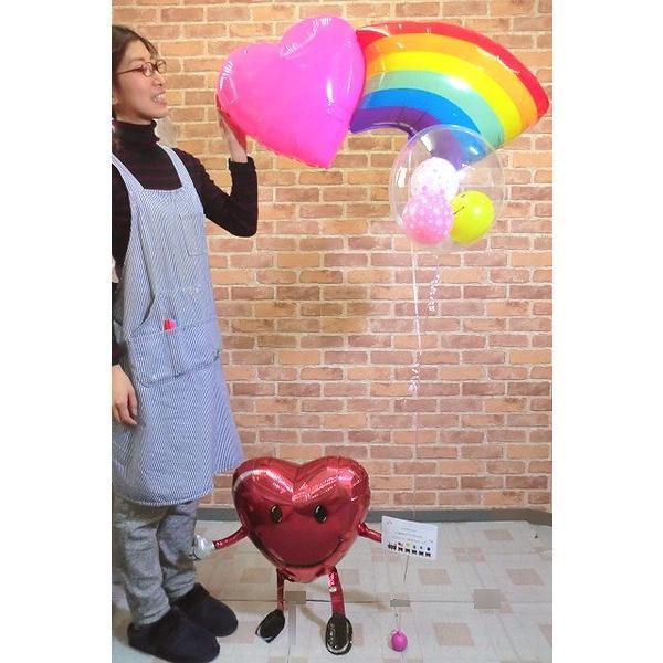 にこちゃん桜レインボーバルーン 誕生日 お祝い メッセージ 結婚式 電報 開店祝い バルーン 入園 入学祝い 姪っ子 虹 発表会 佐川急便  balloon-shop