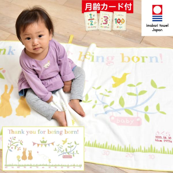 出産祝い HAKAROKKA ハカロッカ 日本製 ガーゼタオルケット 今治タオル認定 名入れ刺繍無料 ガーゼケット ガーゼタオル バスタオル ギフト|ballooncube