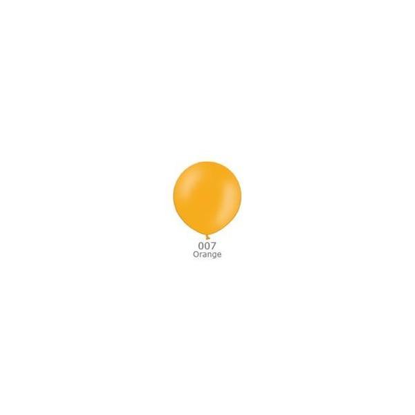 風船/ゴム風船/無地風船(単色)ベルバルバルーンビッグバルーン 90cmパステルカラー Orange(オレンジ)1個入り(天然ゴム100%) 90P-ORANGE-1