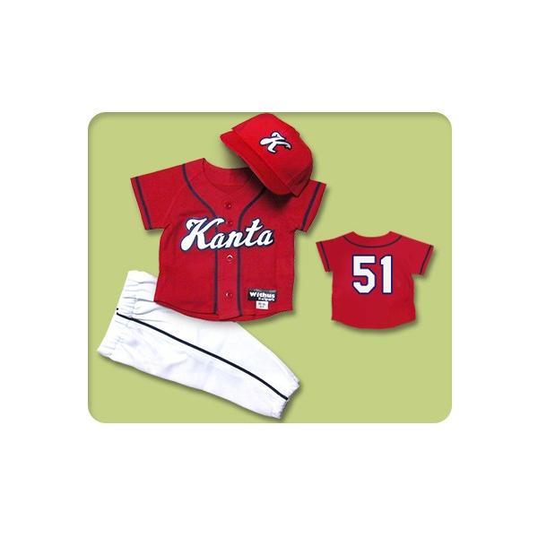 本格仕様のKIDSユニフォーム 3点セット【R3】80cmから作製可能!! ベビーユニフォーム/キッズユニフォーム/赤ちゃん・子ども用/野球|ballpark-withus
