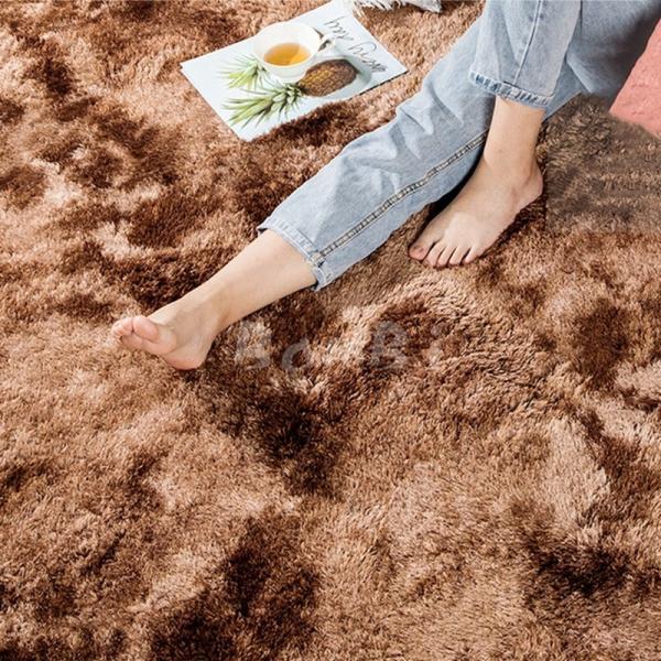 カーペット ラグマット 絨毯 おしゃれ 厚手 シャギーラグ 洗える 北欧 200 250 300 3畳 6畳 100×120|bambi2017-y|04
