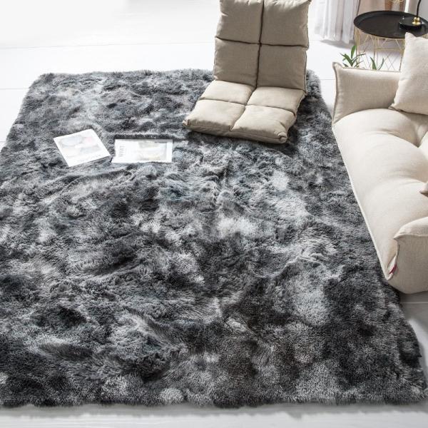 カーペット ラグマット 絨毯 おしゃれ 厚手 シャギーラグ 洗える 北欧 200 250 300 3畳 6畳 100×120|bambi2017-y|09