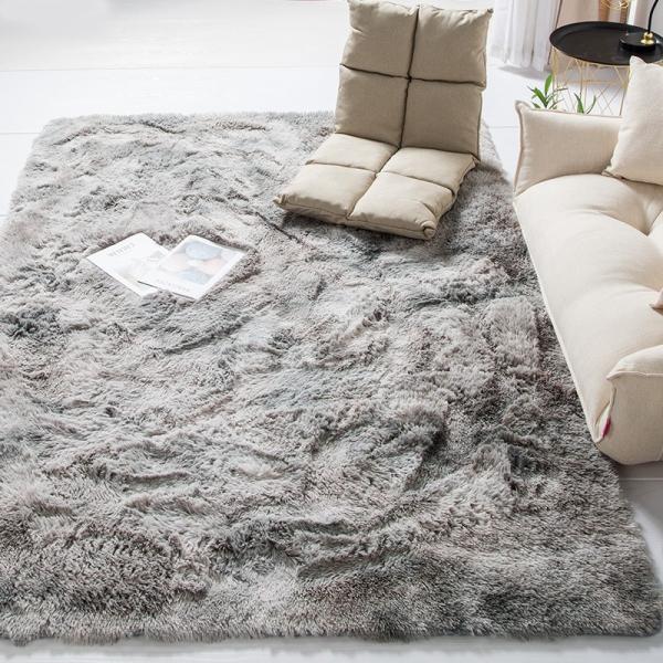 カーペット ラグマット 絨毯 おしゃれ 厚手 シャギーラグ 洗える 北欧 200 250 300 3畳 6畳 100×120|bambi2017-y|10