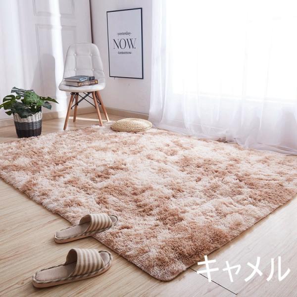 カーペット ラグマット 絨毯 おしゃれ 厚手 シャギーラグ 洗える 北欧 200 250 300 3畳 6畳 100×120|bambi2017-y|17