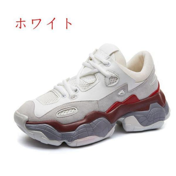スニーカー レディース ランニングシューズ ウォーキング 厚底 疲れにくい 通気性 超軽量 スポーツ カジュアル おしゃれ 美脚 靴 韓国風