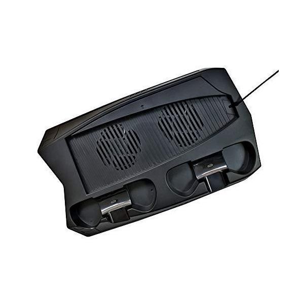 アローンPS5通常版/デジタルエディション両用マルチ充電スタンド冷却ファン付コントローラー2台充電 USB・・・
