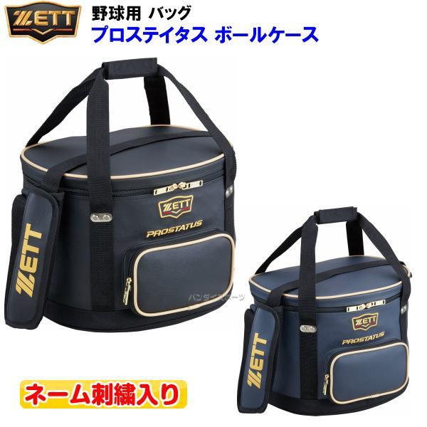 ネーム刺繍入り ゼット (BAP217) 野球 ボールケース プロステイタス (M)