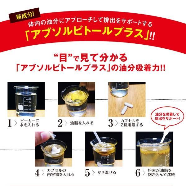 スーパーリミットスリムダイエット アブソルビトールプラス ダイエット 強力油分吸着型キトサン ギムネマ サラシア 脂質・糖質サポート成分 送料無料 P10倍|bandh|06