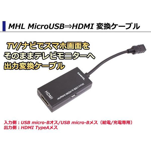 携帯/スマホをテレビに出力 MHL⇒HDMI 5ピン対応 マイクロUSB microUSB⇒HDMI 変換ケーブル アダプター Galaxy Xperia など カーナビ スマートフォン