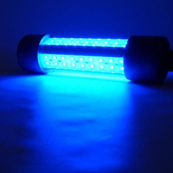 LED水中集魚灯 青 ブル ー 12v専用 14w 1800lm シラス  夜焚き 集魚ライト イカ アジ タ チウオ
