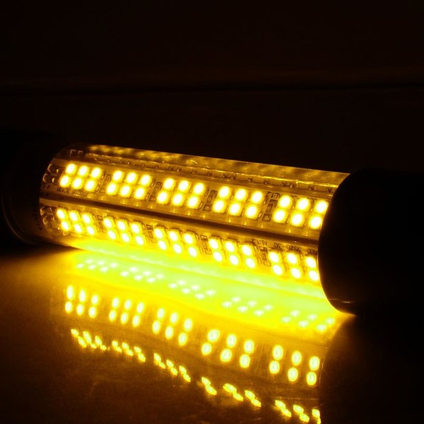 集魚灯led 12v 24v 水中集魚灯 水中灯 8w 黄 800LM イエロー 水中ライト 釣り イカ 色 水槽 led船舶ライト LEDライト 水中 夜釣り