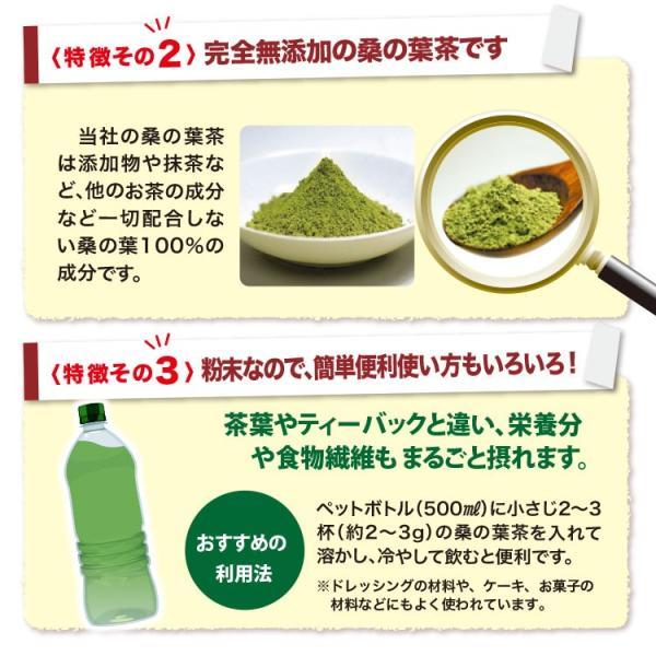桑の葉茶 粉末 100g 青汁 国産 (熊本県産) 効能 桑茶 パウダー|bansyodo1|09