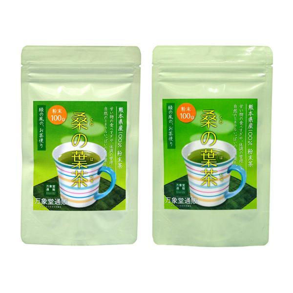 桑の葉茶 粉末 100g×2袋 青汁  国産 (熊本県産) 健康茶  桑茶 パウダー|bansyodo1