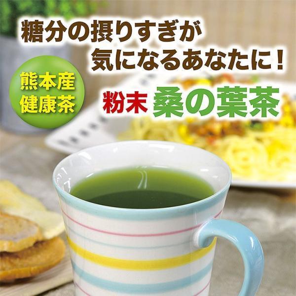 桑の葉茶 粉末 100g×2袋 青汁  国産 (熊本県産) 健康茶  桑茶 パウダー|bansyodo1|02