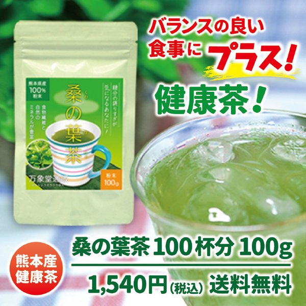 桑の葉茶 粉末 100g 青汁 熊本県産 国産 健康茶 桑の葉 桑茶 効能|bansyodo1