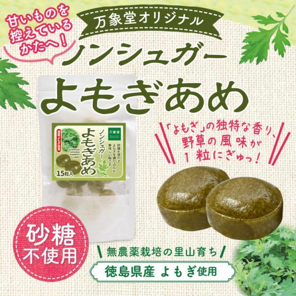 よもぎ茶 粉末 50gノンシュガーのよもぎ飴15粒セット 送料無料 bansyodo1 09