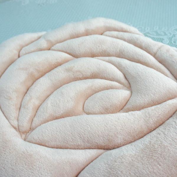 シートクッション もこもこ 薔薇型 ローズ ダイカット かわいい ピンク ベージュ 座席シート おしゃれ 薔薇雑貨|barazakkawithheart|04